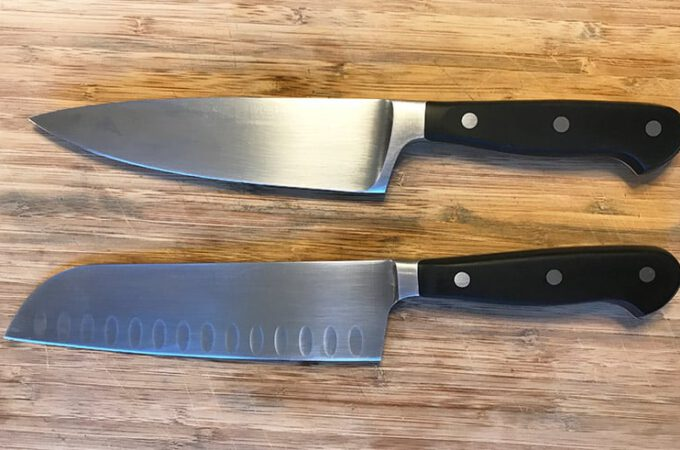 Difference between chef's knife and santoku knife