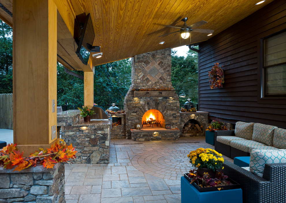 Patio Grill Islands with Fireplace